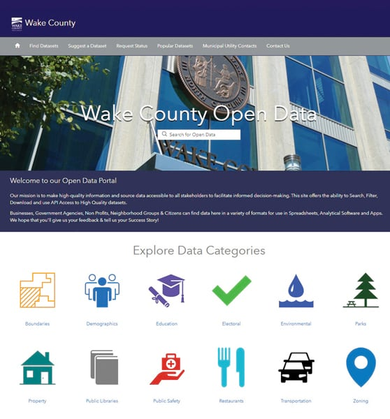 The Wake County Open Data site