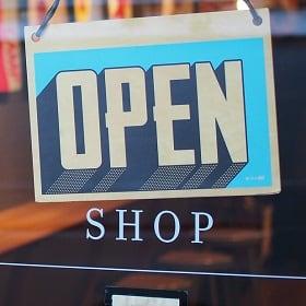 An open sign represents retail resurgence