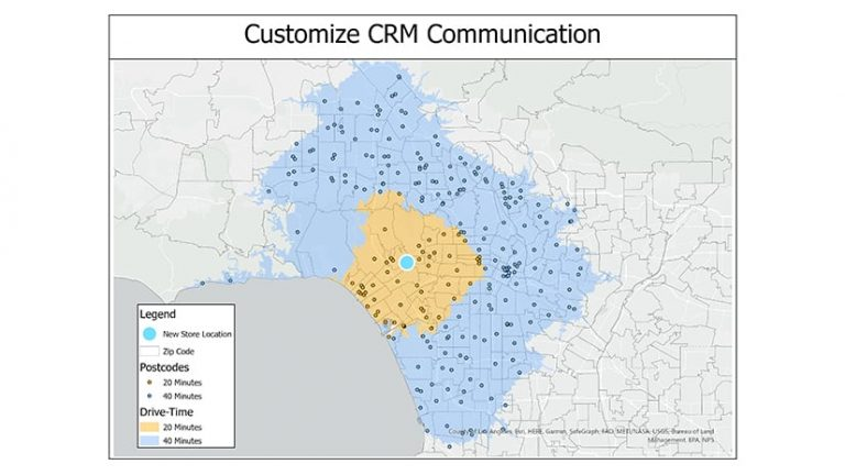 A map showing how customer data can inform personalized messages