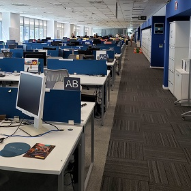 Office spaces with many employees benefit from indoor location intelligence