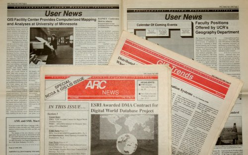 Remember newsprint?  The Fall 1989 issue of ARC News (in its tenth year), announcing the Digital Chart of the World contract.
