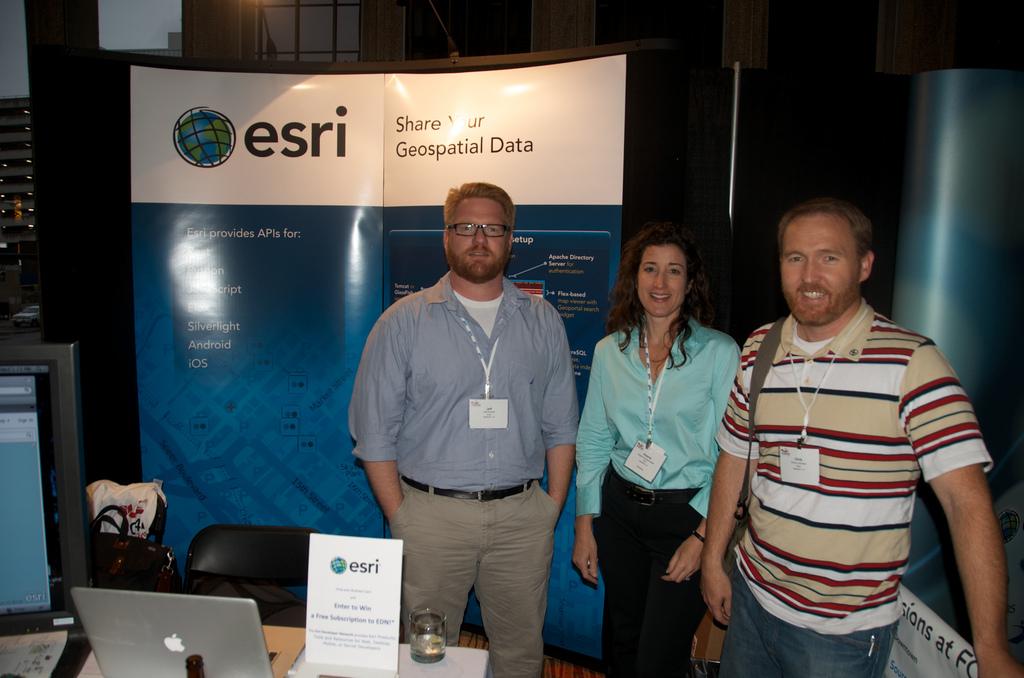 The Esri booth FOSS4G 2011