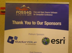 Esri was a platinum sponsor of FOSS4G 2011