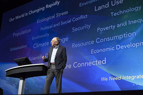 Geography is a platform for understanding our world: Jack Dangermond at the 2012 Esri User Conference.