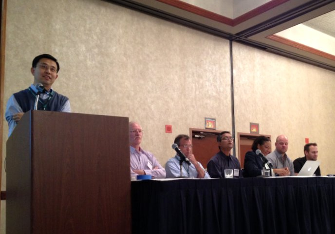 The plenary panel on big data at GIScience 2012 last month in Columbus, Ohio.