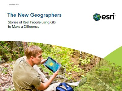 Read inspiring stories about how new geographers are making a difference by applying GIS technology to the needs within their communities and the world.