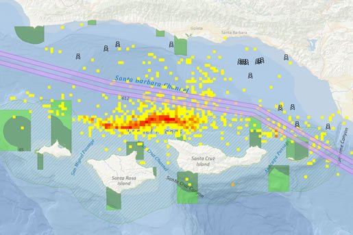 GIS can be used to reroute shipping lanes away from ecologically sensitive areas such as whale migration grounds.