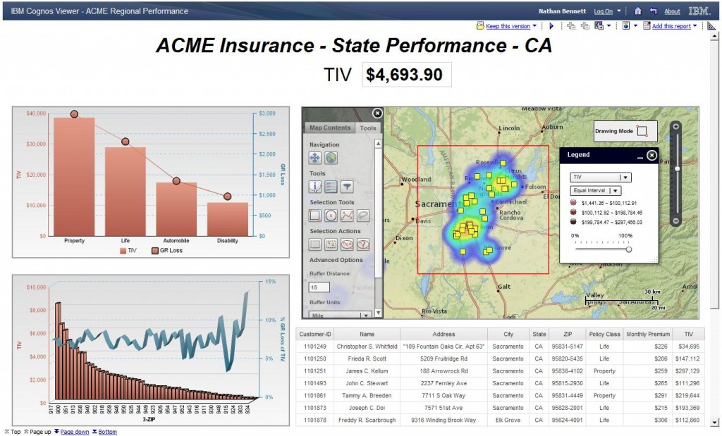 Combining the event footprint along with geocoded customer points, insurance users are able to quickly assess impacts on policyholders.