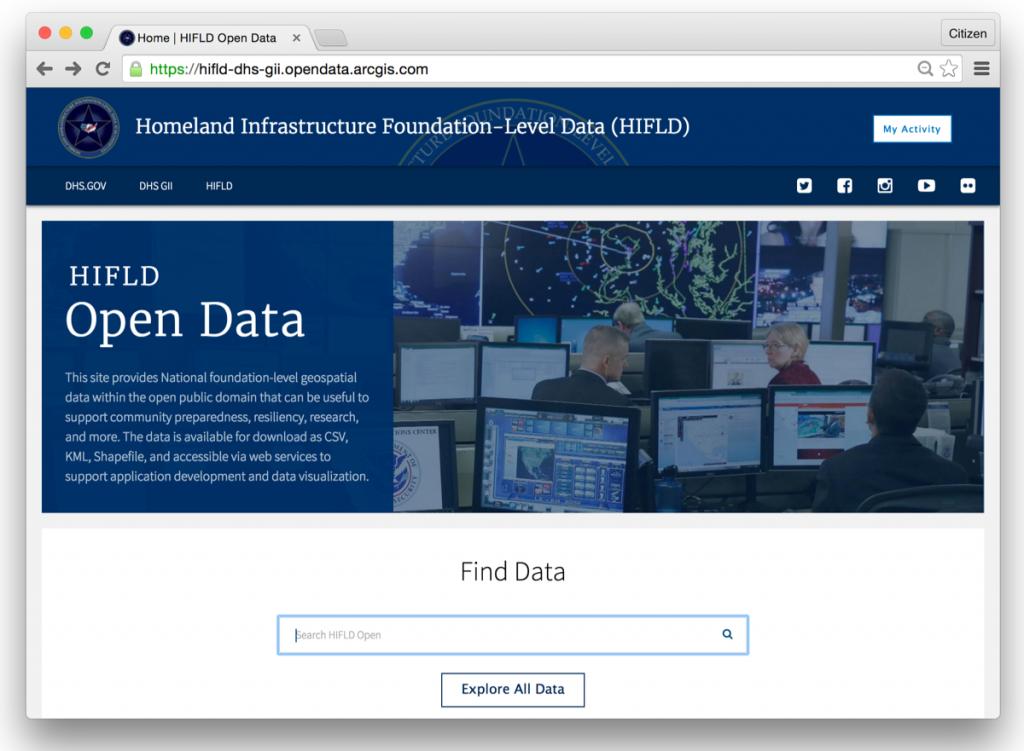 HIFLD Open Data