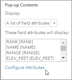 Configure Attributes