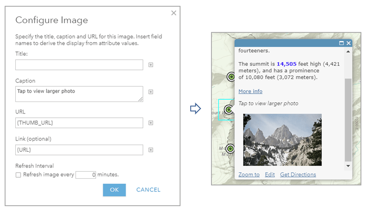 Configure image