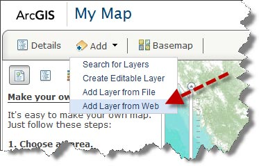Add Layer from Web