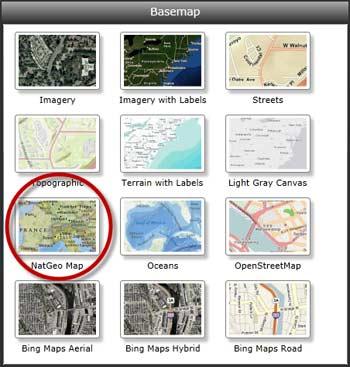 ArcGIS basemap gallery