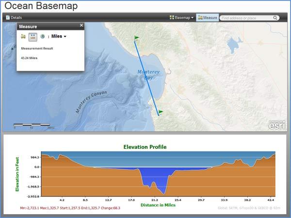 Ocean basemap