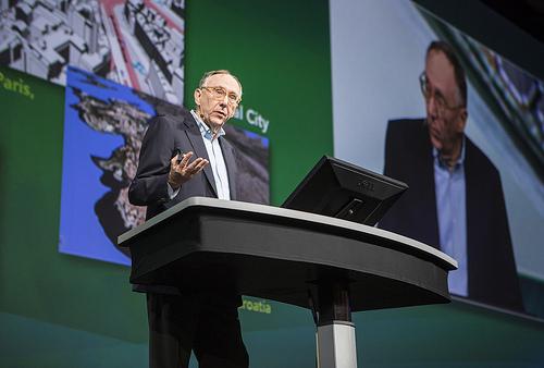 Jack Dangermond, President of Esri, at the Esri UC 2012