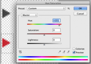 Adjusting the color of the arrow icon in the image sprite