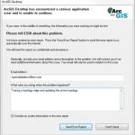 ArcGIS Error Report dialog box