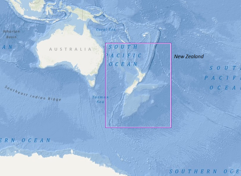 New Zealand Bathymetry