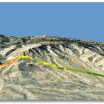 Path Slope results shown on terrain