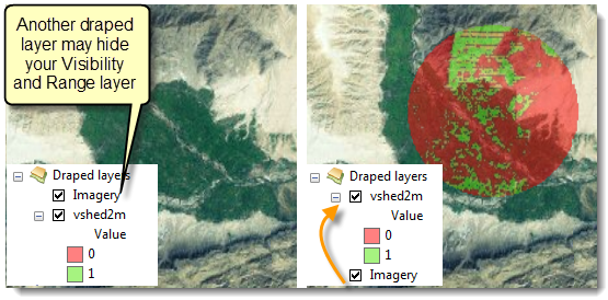 Visibility layer hidden by Imagery layer