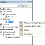 Manage your field configurations and associate batch jobs directly in the Product Library window