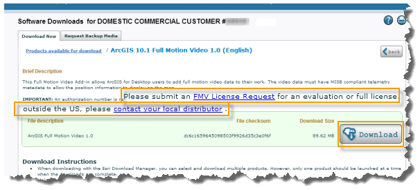Request License and Download