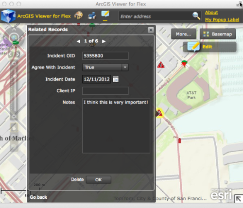 ArcGIS Viewer for Flex  EditWidget RelatedRecords