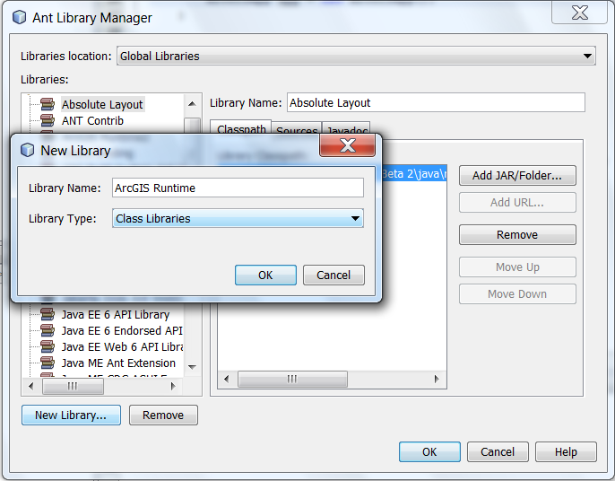 Using NetBeans with the ArcGIS Runtime Java API