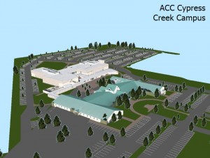 ACC campus basemap with 3D features