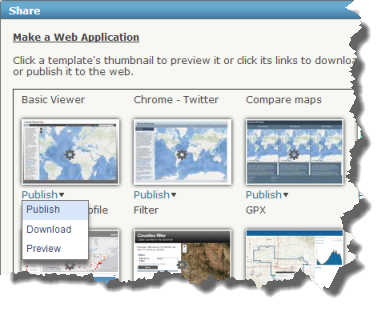 Web Map Application gallery