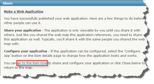 Share or Configure your application