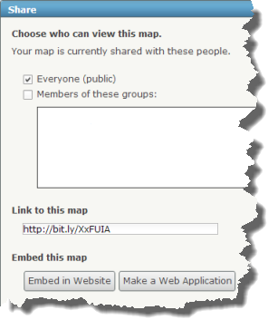 Share, Embed, or Make a Web Application