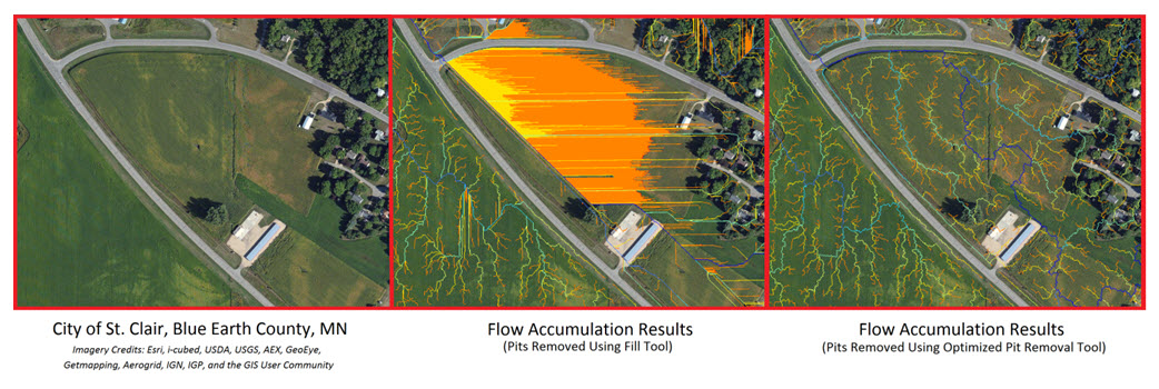 Flow accumulation results