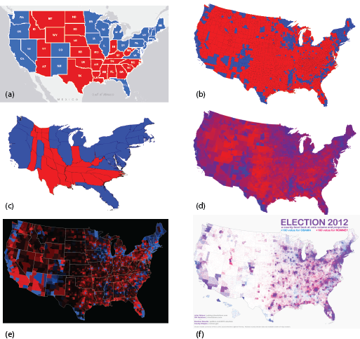 Red, Blue and Purple: mapping the 2012 US Presidential Election