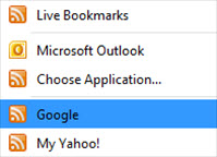 RSS Feeds with Google or Yahoo!
