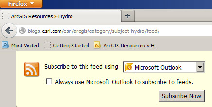 Subscribe using Microsoft Outlook