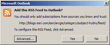 Microsoft Outlook RSS
