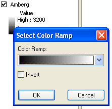 Select Color Ramp window