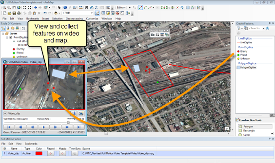 Edit Features on Video or on Map and see in both locations with Feature Scan in FMV