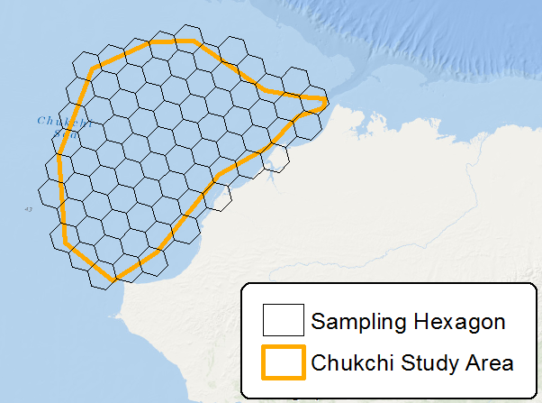 Sampling locations defined by hexagons