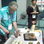 D. Maidment cutting 20th anniversary cake!