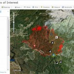 Rim Fire Critical Points of Interest Map