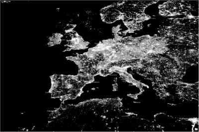 nighttime lights - europe