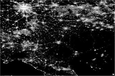 nighttime lights - russia