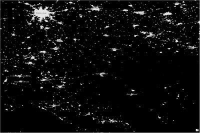 nighttime lights with threshold applied - russia