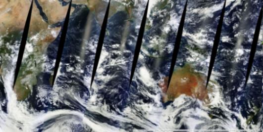 MODIS clouds over the Indian Ocean