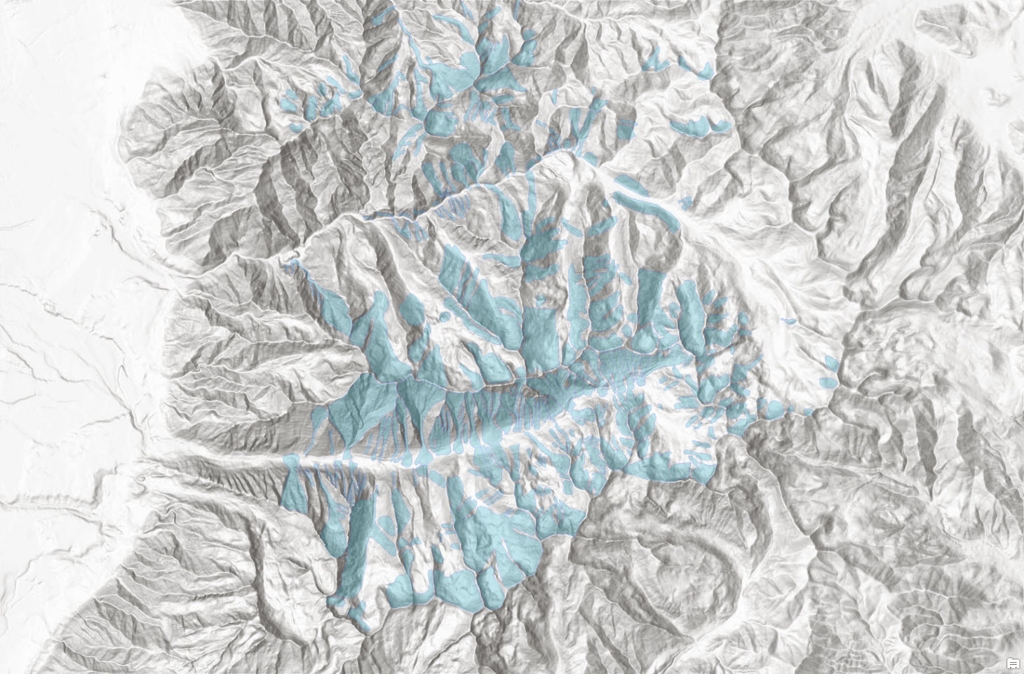 Mapping avalanche paths in southern Utah (USA).