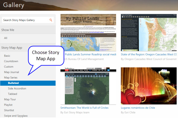 choosing the right story map