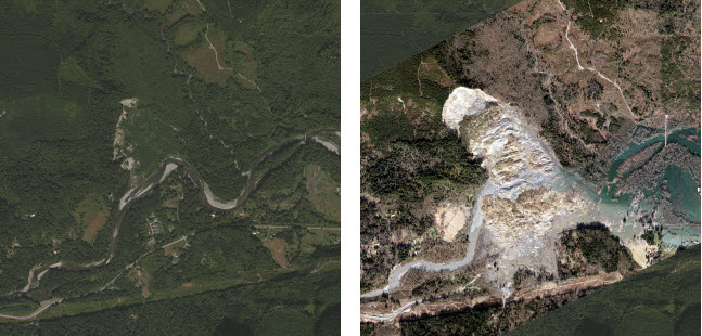 Before and After Imagery