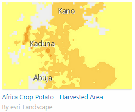 Africa Crop Potato data layer in Living Atlas